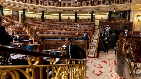Pedro Sanchez  - İspanya parlamentosu - Sputnik Türkiye