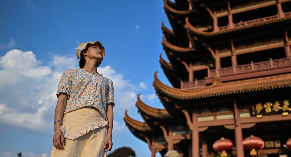 turist, Sarı Turna Kulesi, Vuhan, Çin