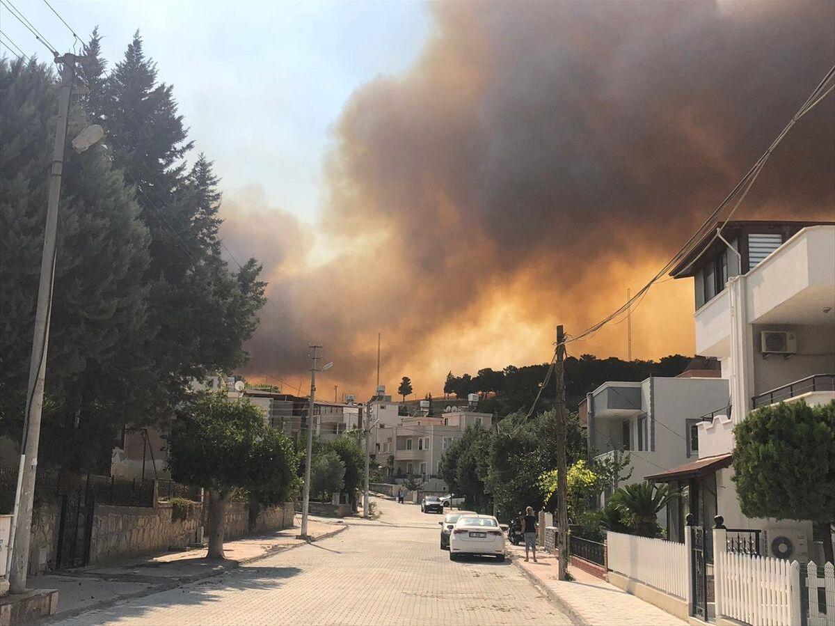 Hatay'da orman yangını: 'Yangın, Nergizlik ve Kışlak köylerine doğru  ilerliyor, buraların boşaltılmasını istedik' - Sputnik Türkiye