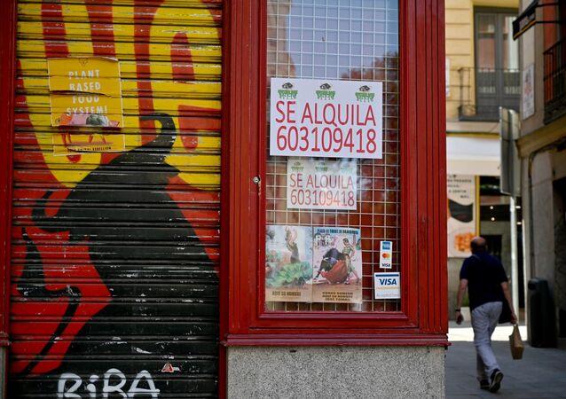 Madrid sokakları, koronavirüs