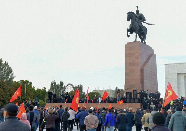 Kırgızistan  - protesto
