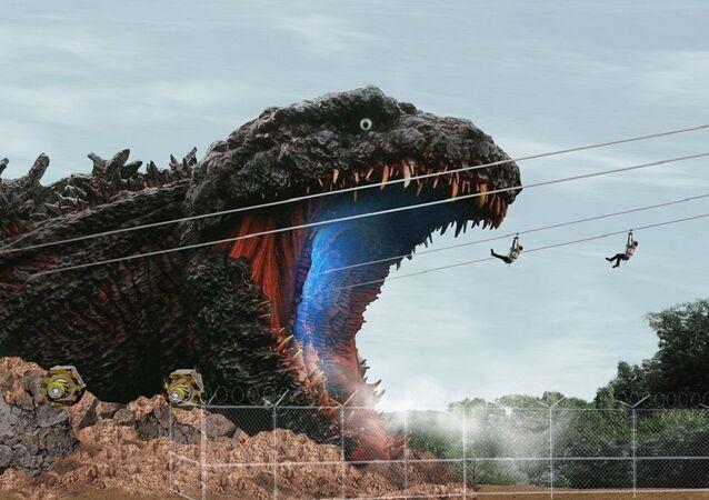 Japonya'daki gerçek boyutlu Godzilla parkı