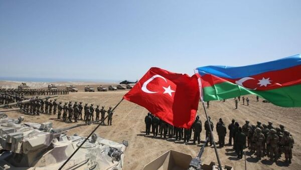 Azerbaycan Türkiye ortak tatbikatı - Sputnik Türkiye