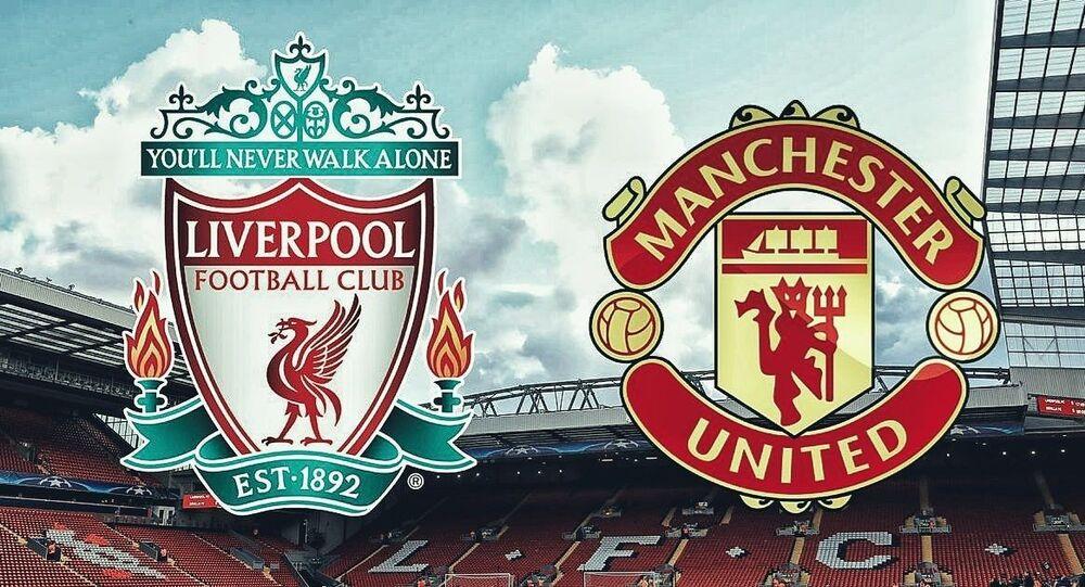 Liverpool kulübünün Manchester United ile maç duyurusu görseli