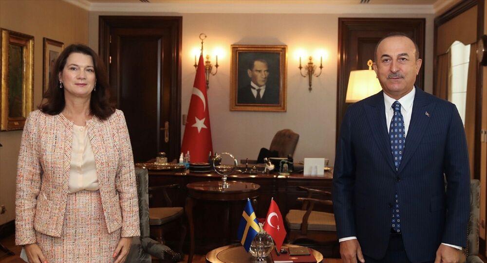 Dışişleri Bakanı Mevlüt Çavuşoğlu, İsveç Dışişleri Bakanı Ann Linde ile Dışişleri Bakanlığı'nda görüştü.