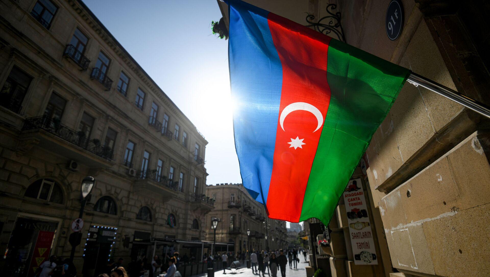 Azerbaycan bayrağı - Bakü  - Sputnik Türkiye, 1920, 01.08.2021
