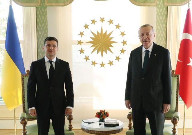 Türkiye Cumhurbaşkanı Recep Tayyip Erdoğan ile Ukrayna Devlet Başkanı Vladimir Zelenskiy