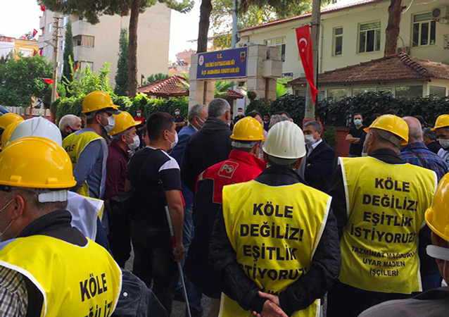 Ankara'ya başlattıkları yürüyüş sırasında gözaltına alınan işçilerin sendikası Bağımsız Maden İş örgütlenme uzmanı Kamil Kartal, Ermenek madenlerindeki koşullar 18. yüzyıldan kalma. Germinal romanındaki gibi koşullarda çalışıyor madenciler. Sonuçları ne olursa olsun, sorunlar çözülene kadar Soma'ya geri dönmeyeceğiz dedi.