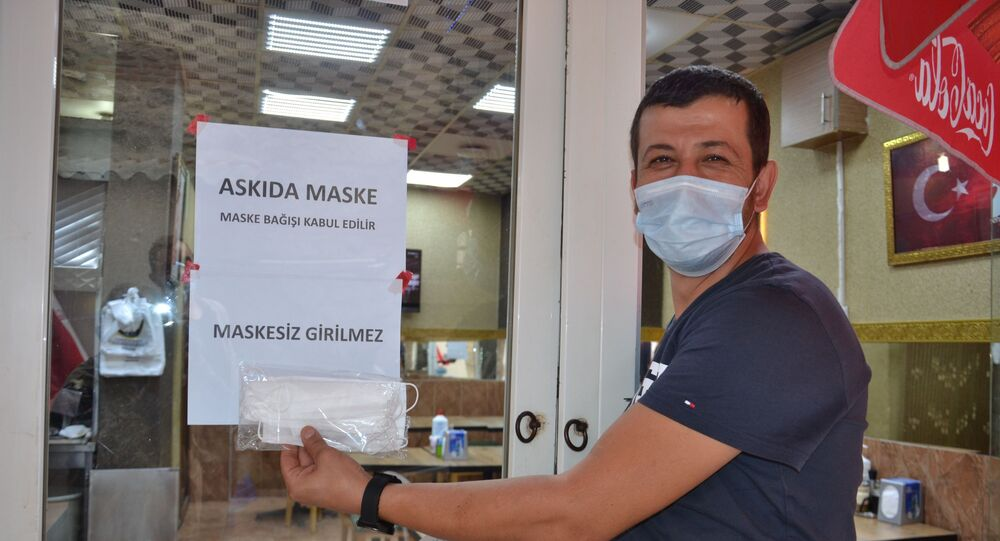 Balıkesir'de askıda maske uygulaması