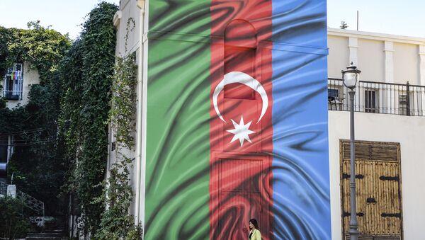 Azerbaycan bayrağı, Bakü - Sputnik Türkiye