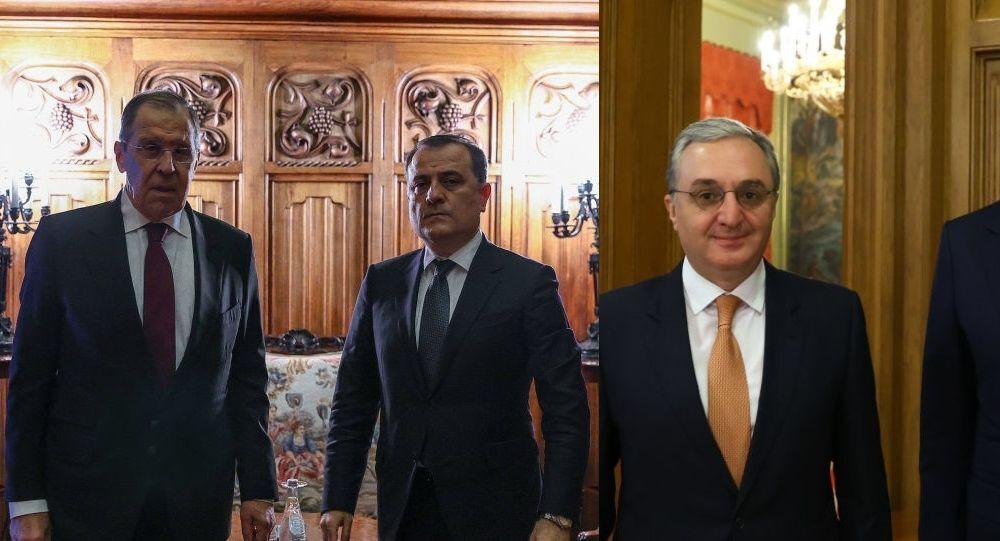 Sergey Lavrov, Ceyhun Bayramov, Zograb Mnatsakanyan