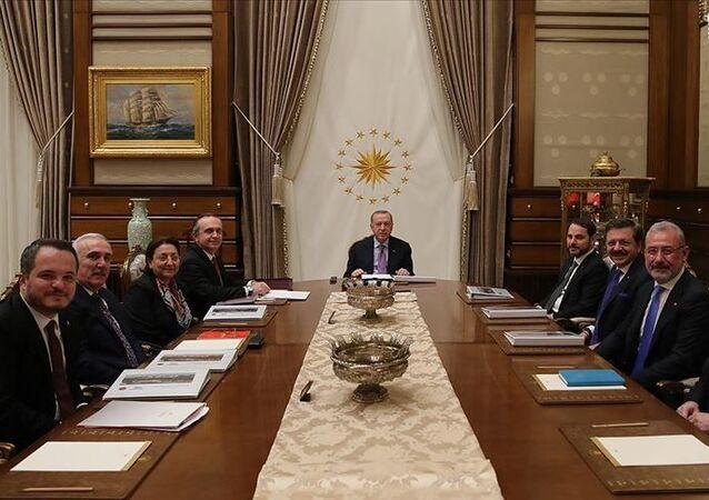 Türkiye Varlık Fonu A.Ş Yönetim Kurulu ve Türkiye CumhurbaşkanıRecep Tayyip Erdoğan