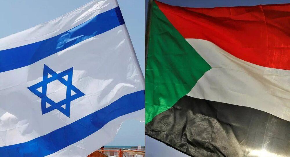 İsrail - Sudan bayrakları
