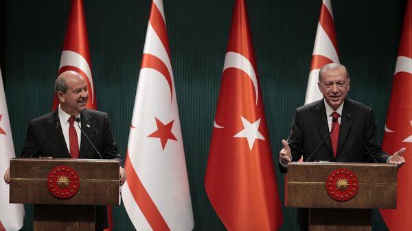 Recep Tayyip Erdoğan - Ersin Tatar - Sputnik Türkiye