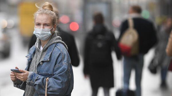 Maske- koronavirüs - Kovid-19  - Rusya - Moskova - Sputnik Türkiye