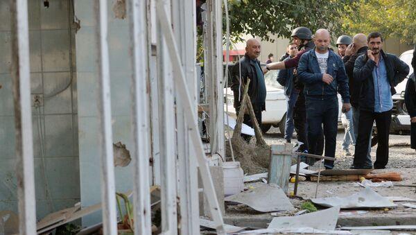 Azerbaycan'ın Barda kentinde Ermenistan bombardımanı - Sputnik Türkiye