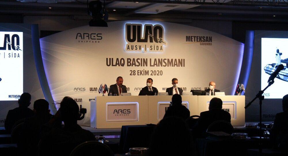 """Türkiye'nin ilk muharip insansız deniz aracı """"ULAQ"""" tanıtıldı"""