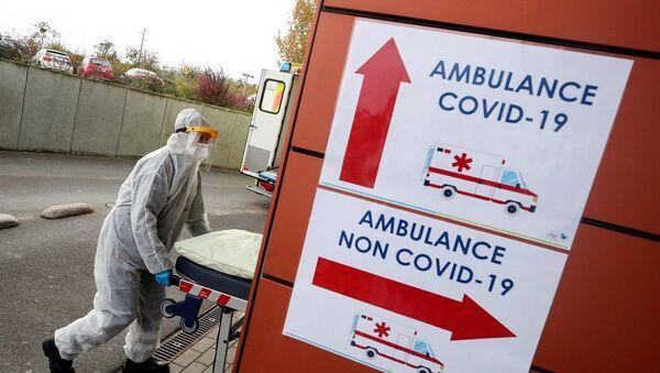 Belçika koronavirüs-ambulans-hastane - Sputnik Türkiye