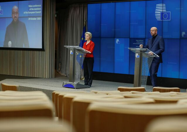 Avrupa Birliği (AB) Komisyonu Başkanı Ursula von der Leyen-Charles Michel