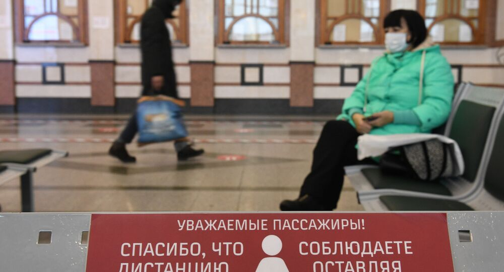 koronavirüs, Novosibirsk Glavny tren istasyonu, Rusya