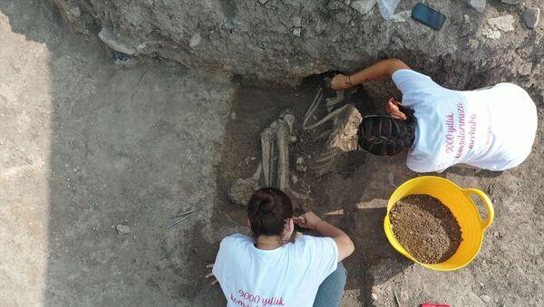 Bilecik'teki kazıda rastlanan iskelet - Sputnik Türkiye