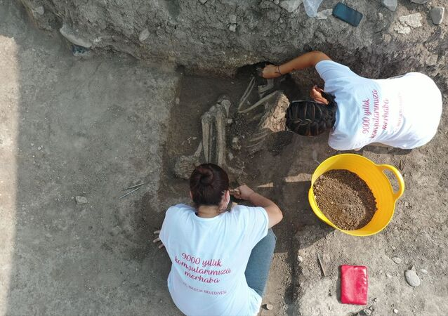 Bilecik'teki kazıda rastlanan iskelet