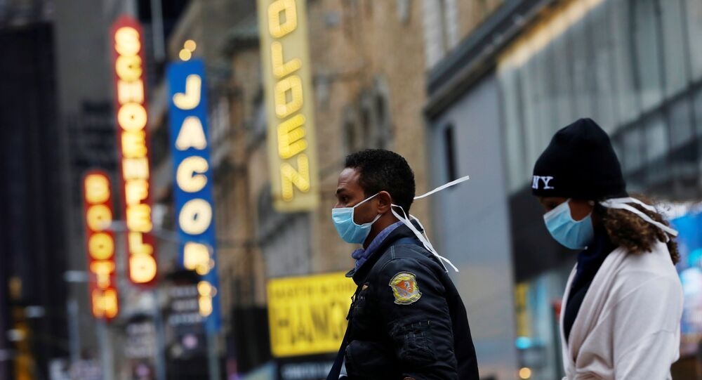 ABD - New York + Manhattan - maske  - koronavirüs
