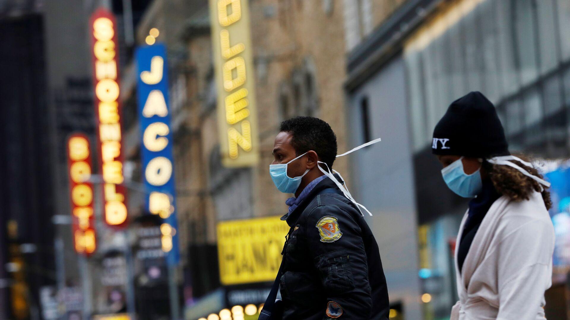 ABD - New York + Manhattan - maske  - koronavirüs - Sputnik Türkiye, 1920, 28.07.2021