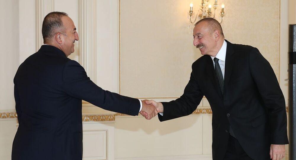 Mevlüt Çavuşoğlu, İlham Aliyev