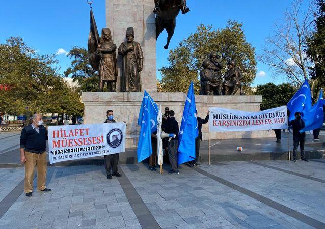 İstanbul'da Fransa protestosu