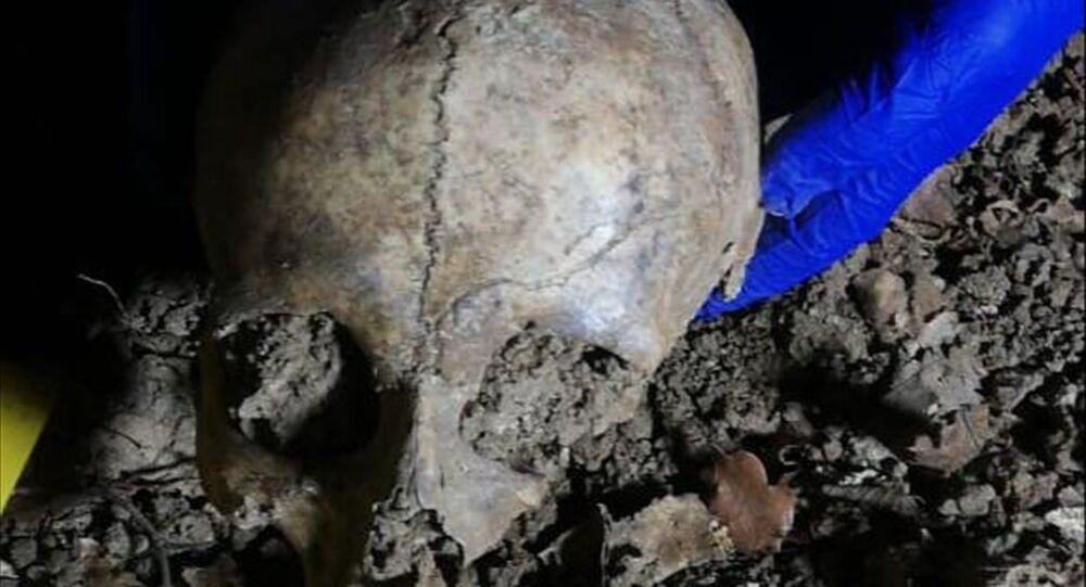Samsun'da yol çalışmasında bulunan kafatası