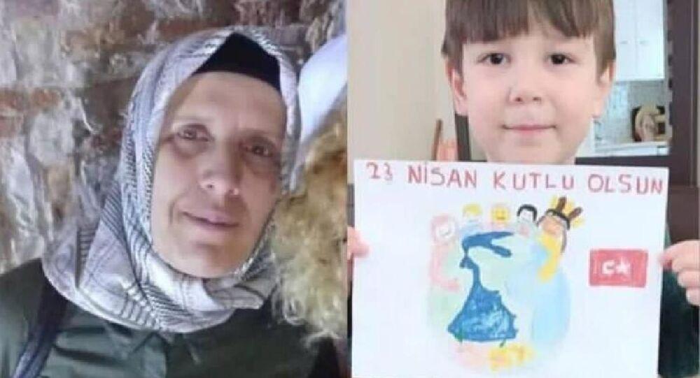 6 yaşındaki Mahmut Baran Karael ve anneannesi Belgin Özcan