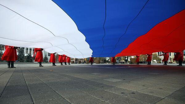 Ulusal Birlik Günü, bayrak, Krasnodar, Rusya - Sputnik Türkiye