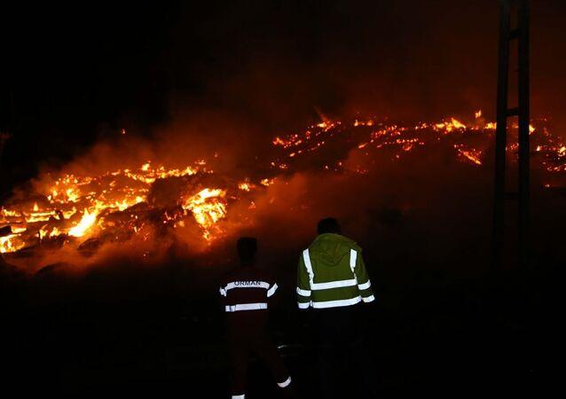 Kastamonu'nun 14 haneli Tepeharman köyünde çıkan yangında 10 ev ve bir cami yandı. Yangına itfaiye ekiplerinin müdahalesi sürüyor. Yangının elektrik kontağından çıktığı belirtiliyor.