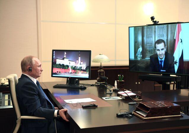 Vladimir Putin-Beşar Esad  görüşmesi
