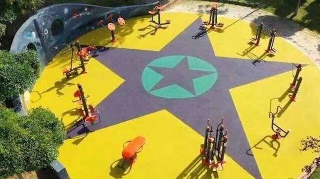 Küçükçekmece'de yenilenen çocuk parkında kullanılan görsellerin PKK sembollerini andırdığı gerekçesiyle soruşturma başlatıldı.