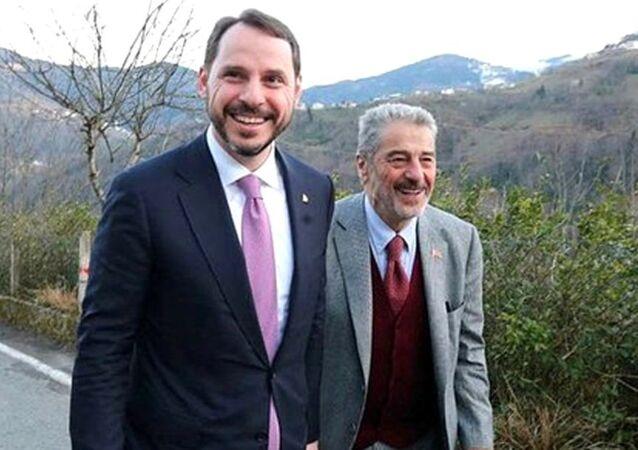 Berat Albayrak ve babası Yazar Sadık Albayrak