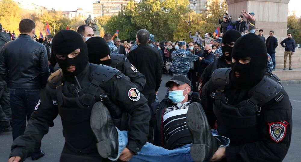 Erivan, protesto