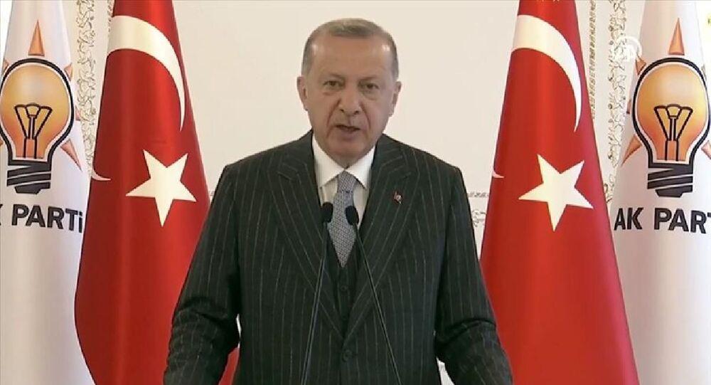 AK Parti Kars ve Karaman 7. Olağan İl Kongrelerine canlı bağlantı ile katılan Cumhurbaşkanı Erdoğan