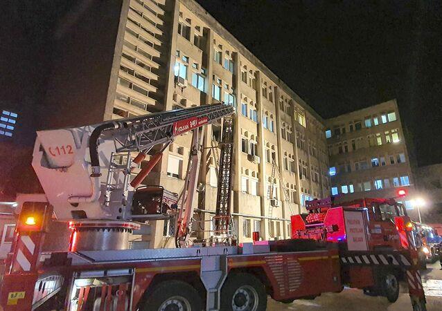 Romanya, hastane, yangın