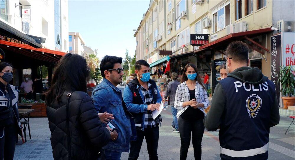 Muğla'da koronavirüs denetimleri, maske