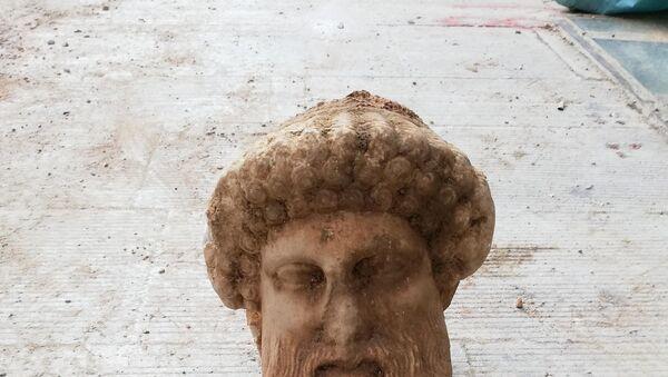 antik tanrı Hermes'in büstü - Sputnik Türkiye