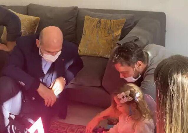 İçişleri Bakanı Soylu, Ayda'yı ziyaret etti