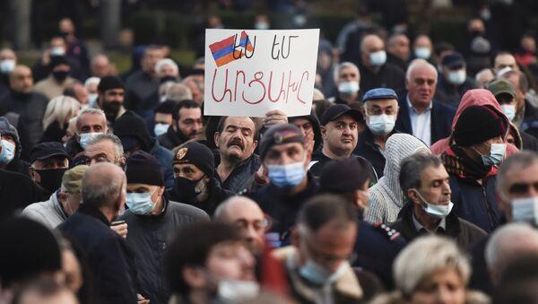 Erivan, protesto - Sputnik Türkiye