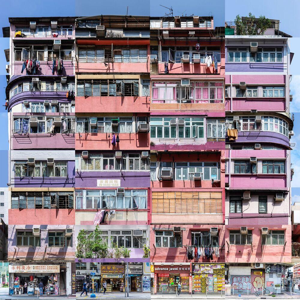 2020 ND Fotoğraf Yarışması'nın Profesyoneller kategorisinde Yılın Mimari Fotoğrafçısı Ödülünü alan Hong Kong'lu fotoğrafçı Tse Ki Piu'nun Tong Lau - Renkli Bina Blokları fotoğraf serisinden bir tanesi
