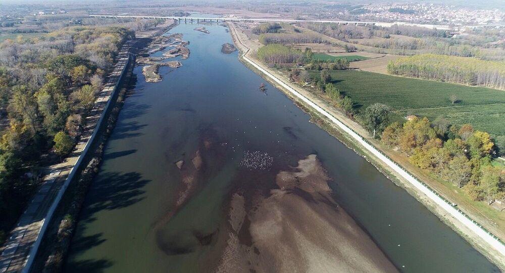 Edirne'de kuraklık - Meriç Nehri