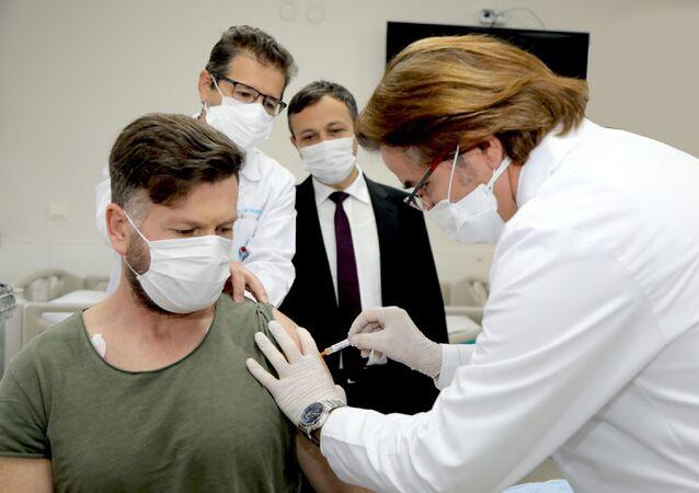 Kayseri'de Erciyes Üniversitesi aşı çalışması
