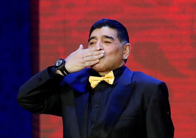 Maradona, 2018 FIFA Dünya Kupası'na ev sahipliği yapan Rusya'nın başkenti Moskova ziyareti sırasında