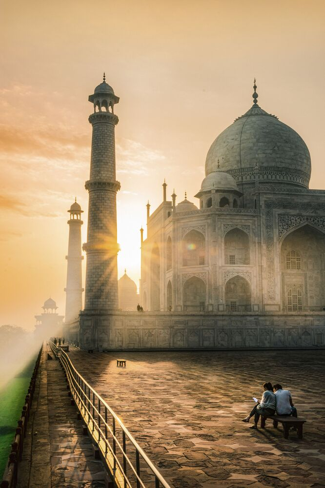 2020 Tarihi Mekanlar Fotoğrafçılık Yarışması'nın finalistlerinden fotoğrafçı Farhan Khan'ın  çektiği Hindistan'ın ikonik mimari şaheserlerinden Tac Mahal  görüntüsü