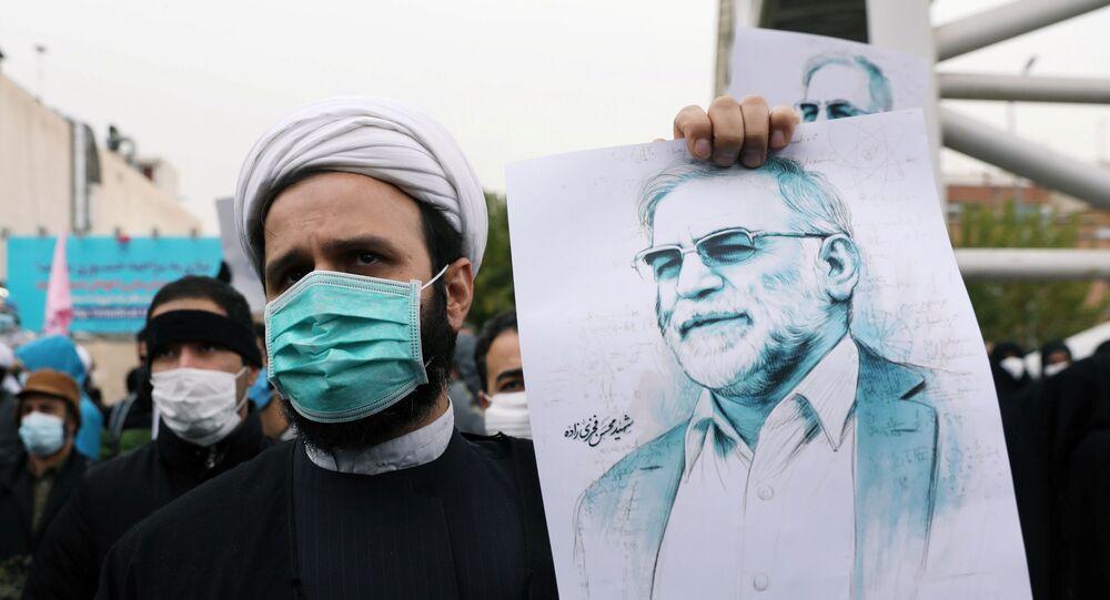 İranlı nükleer bilimci Muhsin Fahrizade'ye düzenlenen suikast Tahran'da protesto edildi.